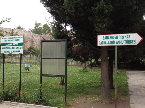 Signposts to the companions buried in the shrine complex by the city walls
