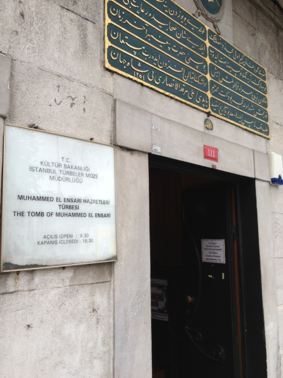 The stone building housing the grave of Muḥammad al-Anṣārī